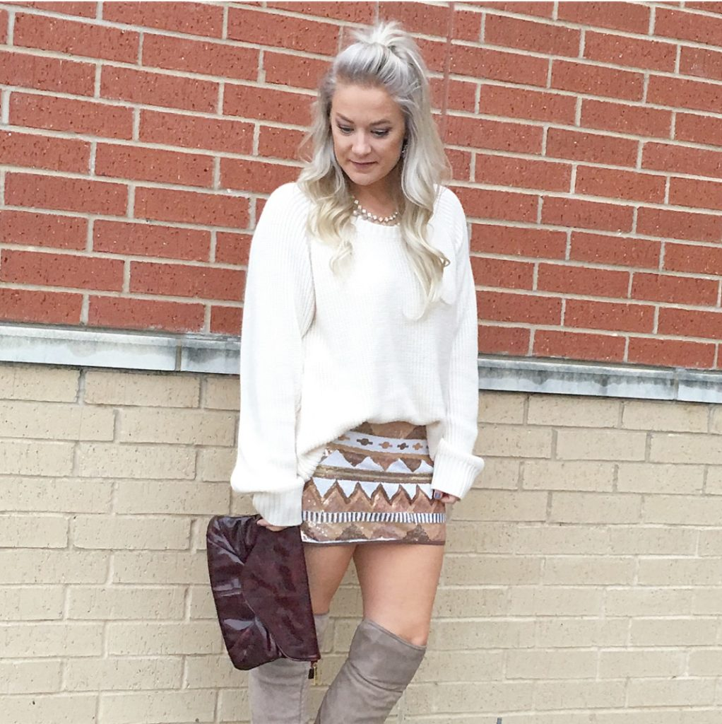 Sweater Sequin Skirt