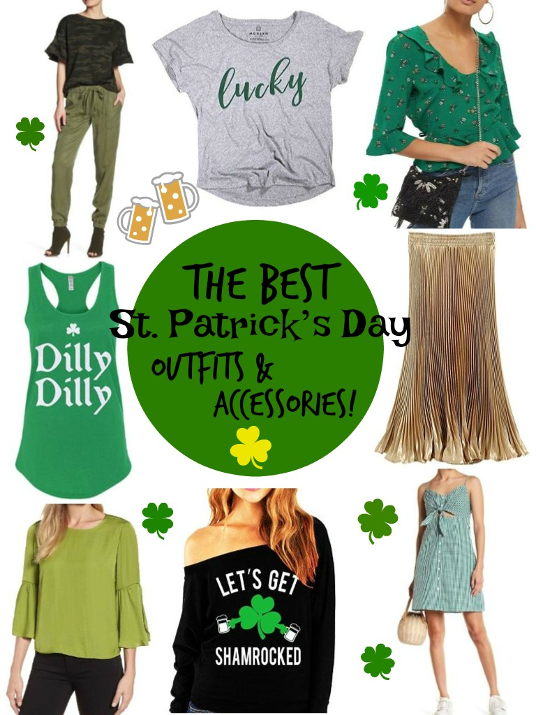 5055fbe322f675 So I always try to incorporate a little green into my wardrobe on St. Paddy's  Day. I rounded up some stylish outfit ideas to help you get inspired so you  ...